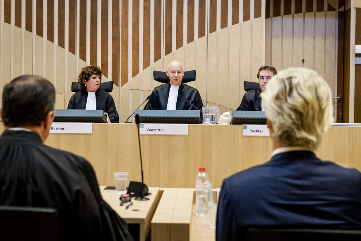 Wilders in verweer tegen zijn vervolging