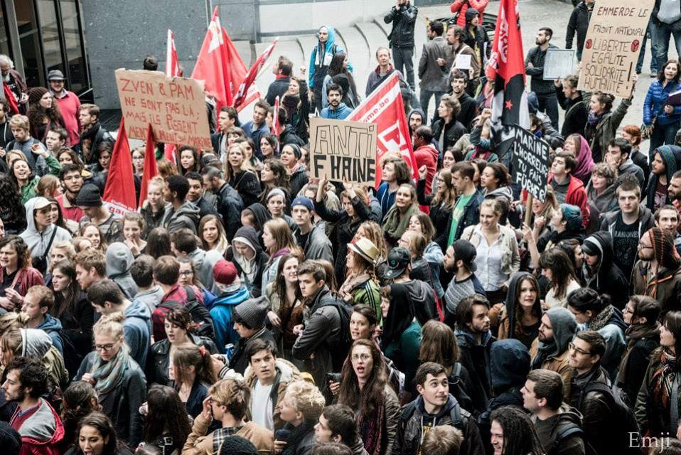 linkse betoging